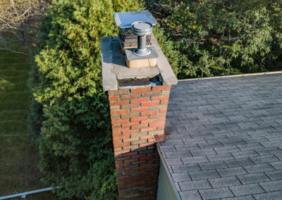 Green Bay Chimney Roof Drone Inspection
